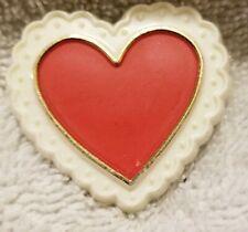 Vintage Hallmark Cards Valentines Heart Pinback Button