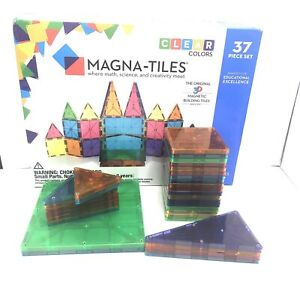 Magna-Tiles Clear Colors Magnetic Building Tiles 33 Pieces