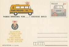Poland prepaid postcard (Cp 747) motorization