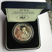 Alderney 1997 Atlantic Puffin Bird 2 Pounds Silver Coin,Proof