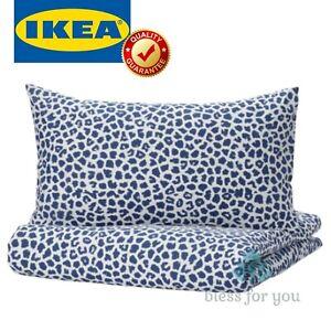 IKEA KVASTFIBBLA Duvet Cover and Pillowcase(s) White Dark Blue Twin Queen King