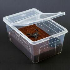 Clear Reptile Terrarium Vivarium Tank Breeding Box Turtle Snakes Nursery Case