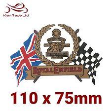 1x Royal Enfield Sticker - Make Life A Gun, Decals, Gold and Black, Flag, Race