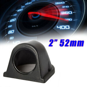 2'' 52mm Gauge Pod Single Hole ABS Pillar Dashboard Mount Holder Black Universal