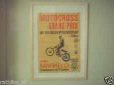 25-MARKELO MOTOCROSS GP POSTER 1968