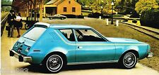 1975 AMC GREMLIN / HORNET / MATADOR Brochure/Catalog with Color Chart: Levi's,