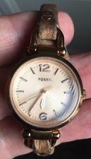 Señoras reloj Fossil ES-3262 Correa De Cuero