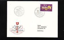 Switzerland 100 Years Post Bern 1949 FDC Cover No postal backstamp   7q