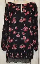 Womens White House Black Market Lined Tunic Blouse Top Shirt Size 2