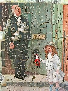 Pair of Vintage  Wooden Jigsaw Puzzles - Few Pieces Missing
