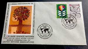 ODZ & ENDZ UN VIENNA FDC UN VIENNA 4s/6s - SCOTT#: 12-13 - 35TH ANNIVERSARY 1906