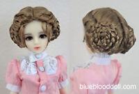 """1/3 bjd 8-9"""" doll brown vintage braid doll wig Luts Iplehouse dollfie W-JD177L"""