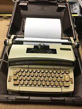 Vintage Blue Smith-Corona Coronet Super 12 Electric Typewriter W/CASE