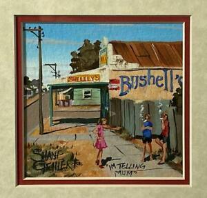 ORIGINAL SHANE GEHLERT ACRYLIC PAINTING AUSTRALIAN OUTBACK ART LISTED ARTIST #3