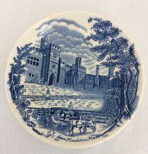 Vtg Plate Haddon Hall Johnson Bro  England Souvenir AS IS Ceramic F39