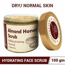 Bella Vita Organic Almond Honey Face Scrub Exfoliator For Dry & Sensitive Skin