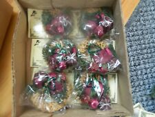 12 x Traditional  Christmas Tree Decorations Hand Crafted new in box