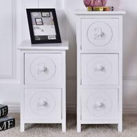 Table de chevet Table de Nuit en bois blanc moderne chambre meuble rangement