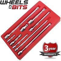 "NEW 9pc Socket Wobble Wobbly Bar Extension Set 1/4"" 3/8"" 1/2"" Drive Garage Tool"