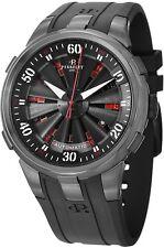 Perrelet Men's Turbine XL Roulette Black Rubber Strap Automatic Watch A4054/1
