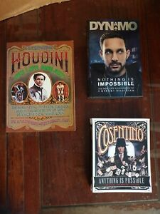 BULK LOT Magic Books x3 Anything Is Possible By Cosentino & DYNAMO HOUDINI etc