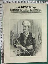 C1887 stampa ~ il Nizam di Hyderabad illustrated London news