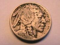 1913-S T1 Buffalo Nickel Nice VG Original Grey Toned Indian Head 5 Cent USA Coin