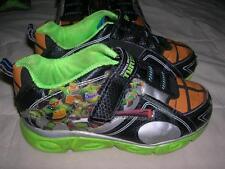 BOYS Toddler Twins TEENAGE MUTANT NINJA TURTLES Sneakers Shoes BLACK LIME Sz 11