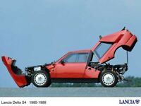 A3 LANCIA DELTA S4 STRADALE SIDEVIEW Advert Poster Brochure Art