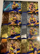 2020  FOOTY STARS MILESTONE GAMES WEST COAST EAGLES TEAM SET OF (8) CARDS