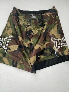 Tapout Men's Army Camo MMA Mixed Martial Arts Shorts Size 34 Adjustable
