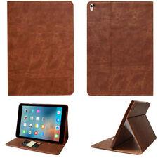 Leder Schutzhülle für Apple iPad 2/3/4 Tablet Tasche Cover Smart Case braun