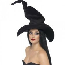 Ladies Witches Hat Tall and Twisty Halloween Fancy Dress Costume Witch Accessory