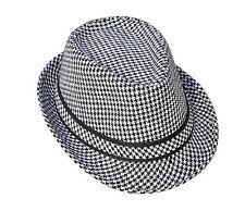 Men Women Unisex Fedora Hat Trilby Cuban Panama Style Upturn Short Brim Cap Hat