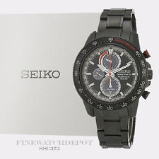Authentic Seiko Men's Sportura Perpetual Solar Chronograph Watch SSC373