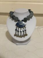Afghan Vintage Jewellery Necklace Ethnic Tribal Authentic Stones Layers Handmade