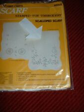 DRESDEN BORDER STAMPED FOR EMBROIDERY SCALLOPED SCARF by VOGART