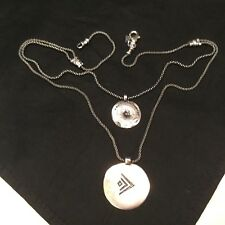 SILPADA Israel  925 Sterling Silver Necklace,Double Chain Necklace,2 Pendants
