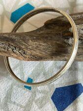 8.5-inch Sterling Silver Etched Bangle Bracelet