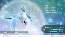 Pokemon Let's Go Shiny Articuno 6IV-AV Trained