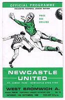Newcastle United v West Bromwich Albion 1968/9 (14 Sep)
