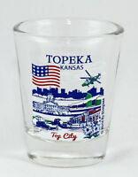 TOPEKA KANSAS GREAT AMERICAN CITIES COLLECTION SHOT GLASS SHOTGLASS