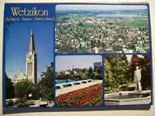 Postkarte Schweiz, Wetzikon im Zürcher Oberland, Mehrbildkarte, Kirche, Luftbild