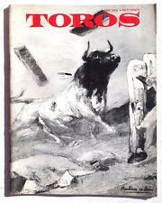 Vintage June 1964 Toros (Matador) Bullfighting Review In English Magazine