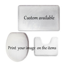 Custom Design 3 Pcs Toilet Seat Covers Set Soft Flannel Pedestal Mat No-slip Rug