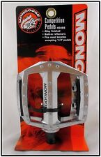 """NOS OLD/MID SCHOOL MONGOOSE BICYCLE BMX BIKE COMPETITION ALLOY 1/2"""" PEDAL SET GT"""