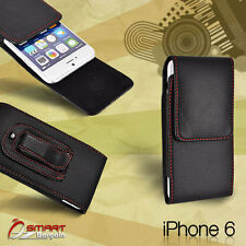 Flip Leather holster Pouch Case For iPhone 6 5 5s 5c 4 4s with Belt Clip vertic