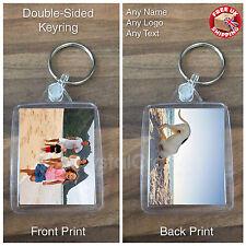 Personalised Custom Photo Gift Keyring Keyfob - Your Design - Double-Sided