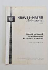 Km-info 264: retrospettiva e prospettive macchine in natura delle ferrovie federali tedesche