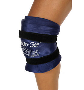 ELASTO-GEL Knee Wrap Ice Cold Hot Pack Pain Therapy Elastogel SMALL